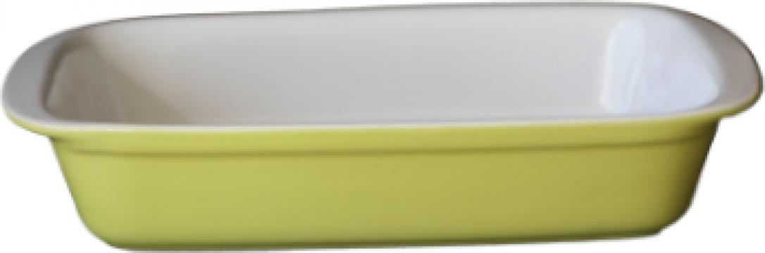 Tava ceramica Cerutil 27x16,5x5,5cm verde de la Basarom Com
