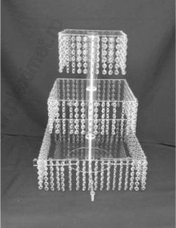 Suport de tort patrat cu cristale acrilice SPEv 31.1