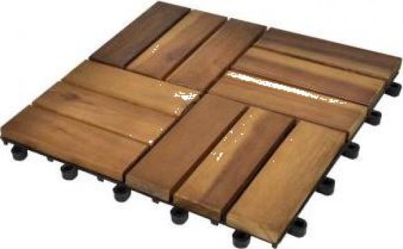 Set dale din lemn de salcam 30 x 30 cm, 30 buc.