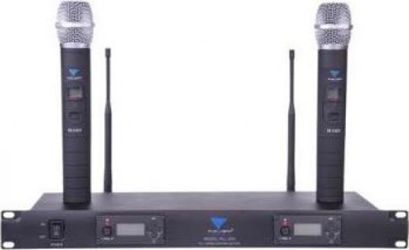 Statie cu doua microfoane portabile UHF Azusa de la Electro Supermax Srl