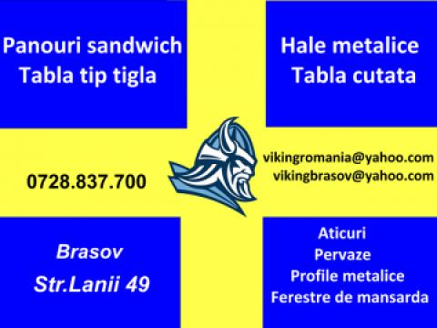 Panouri sandwich perete si acoperis (3 si 5 cute) de la S.c. Viking Steel S.r.l.