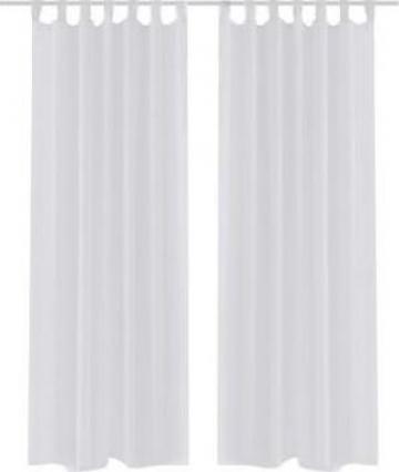 Perdea transparenta alb 140 x 175 cm 2 buc. de la Vidaxl