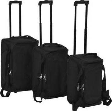 Set de valize, 3 piese, negru de la Vidaxl