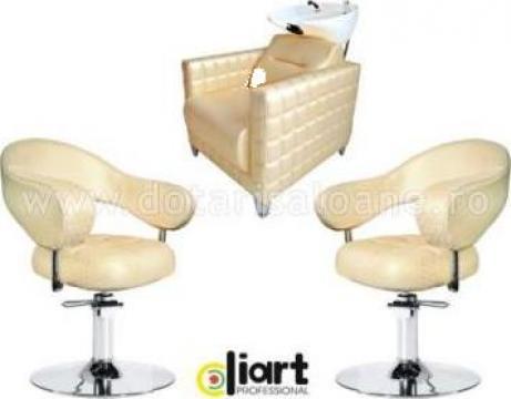 Set mobilier coafor Rose Gold Duo de la Sc Diart MP Srl