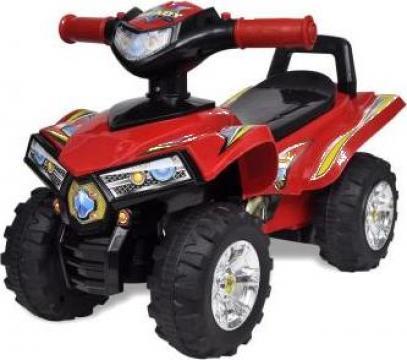 Jucarie ATV pentru copii cu sunet si lumina, rosu