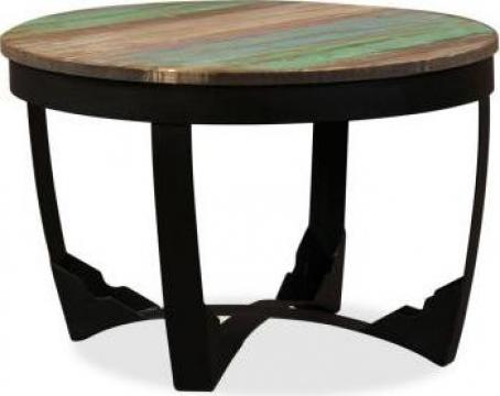 Masa laterala, lemn masiv reciclat, 60 x 40 cm de la Vidaxl