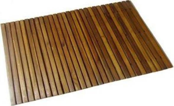 Covoras din acacia pentru baie, 80 x 50 cm de la Vidaxl