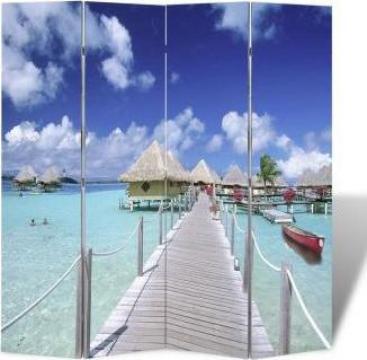 Paravan despartitor cu imprimeu tropical, 160 x 180