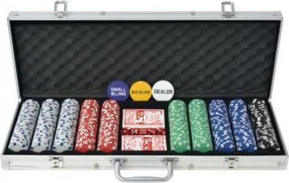 Set de poker cu 500 de jetoane din aluminiu de la Vidaxl