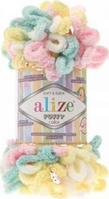Fire pentru tricotat Alize Puffy Color de la Sc Ccs Trade Srl