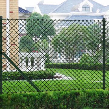 Gard de sarma 0,8 x 25 m verde cu stalpi
