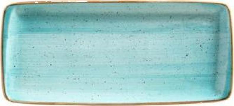 Platou portelan dreptunghiular Bonna - Aqua 34x16cm de la Basarom Com