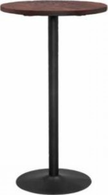 Masa rotunda pentru bar Antique 80x80x75cm Black Matte