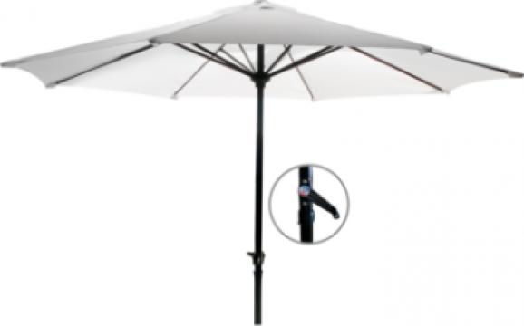 Umbrela soare 250cm culoare bej cu mecanism rabatare de la Basarom Com
