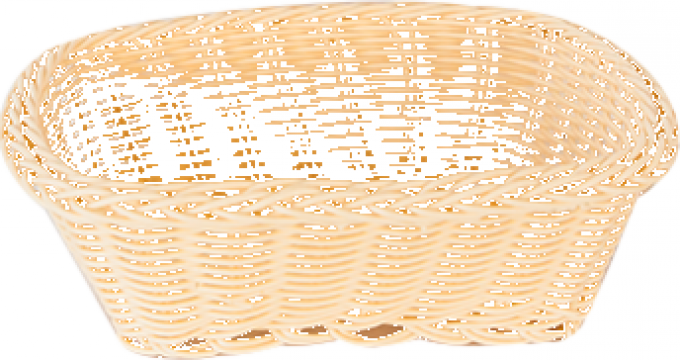 Cos servire dreptunghiular Raki 19x15x7cm culoare natural de la Basarom Com