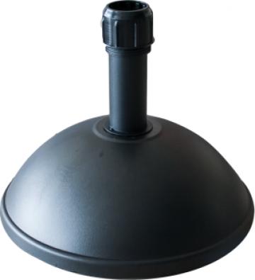 Suport emisfera umbrela soare 25kg culoare neagra de la Basarom Com