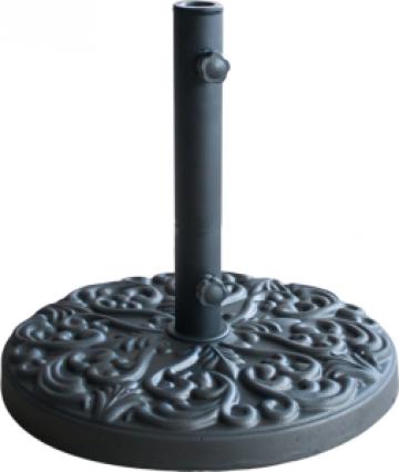 Suport rotund umbrela soare 25kg culoare neagra cu relief de la Basarom Com