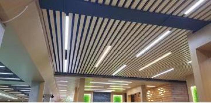 Tavan lamelar din aluminiu Cesal, design Scandinav Art.C80 de la Tavane Cesal