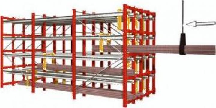 Raft cu role pentru depozitare bunuri de mare lungime