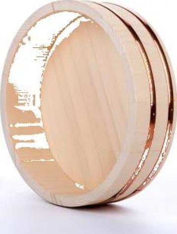 Bol rotund din lemn Hangiri (Handai) de la Expert Factor Foods Srl