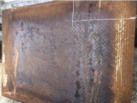Tabla striata din otel 10x1500x2000 mm, antiderapanta de la Baza Tehnica Alfa Srl