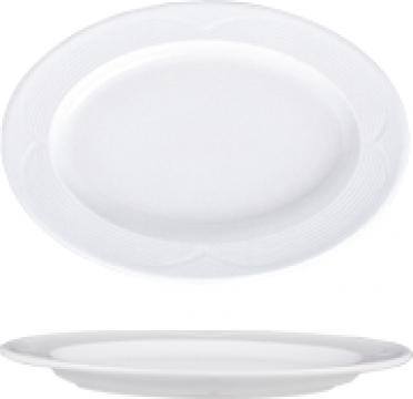 Platou oval din portelan 21x14cm colectia Saturn de la Basarom Com