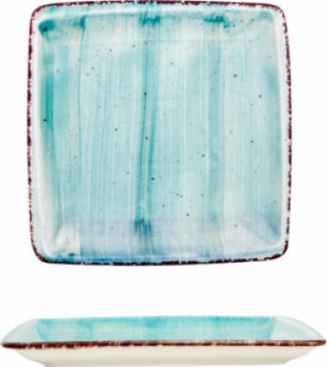 Farfurie patrata Gural colectia Turquoise 17x17cm de la Basarom Com
