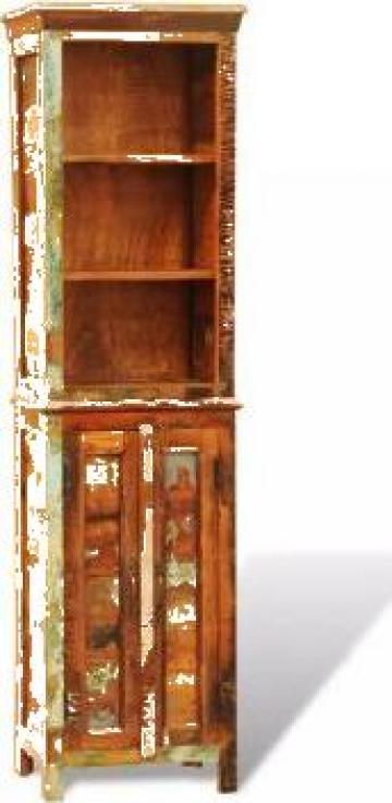 Biblioteca din lemn reciclat vintage