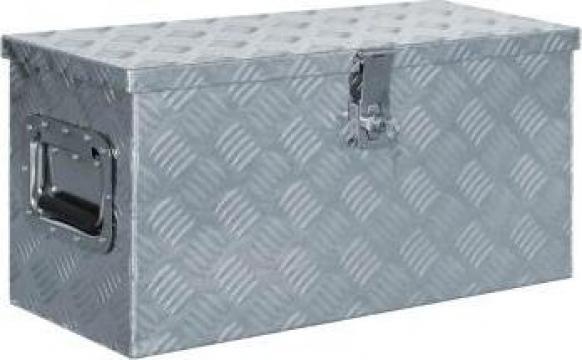 Cutie din aluminiu, 61,5 x 26,5 x 30 cm, argintiu