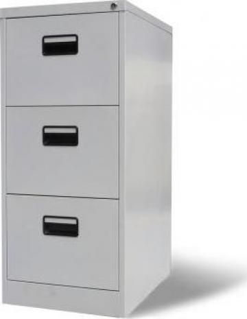 Fiset pentru dosare cu 3 sertare, gri, metal de la Vidaxl