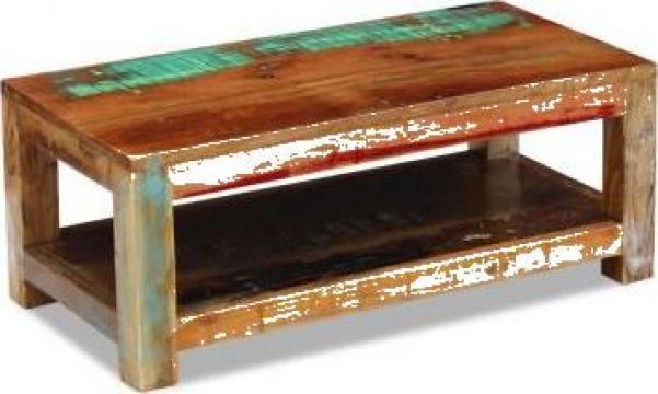 Masuta de cafea lemn solid reciclat 90x45x35 cm