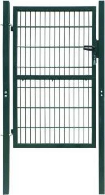 Poarta 2D pentru gard (simpla) 106 x 210 cm, verde de la Vidaxl