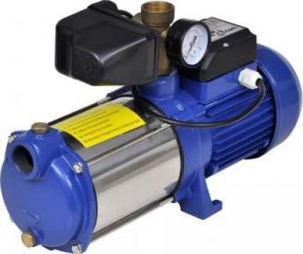Pompa cu manometru 1300 W 5100 L/h albastru