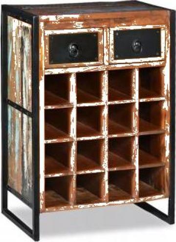 Suport pentru 16 sticle de vin, lemn masiv reciclat de la Vidaxl