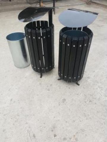 Cos de gunoi cu capac protector de la Moblux Stradal SRL