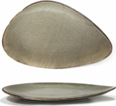 Platou Antique Grey portelan triunghi 24cm de la Basarom Com