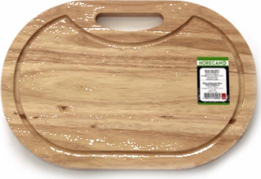 Platou oval servire din lemn Raki 43cm de la Basarom Com