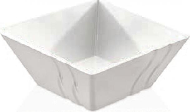 Bol patrat Raki Luxor White melamina 30x30x12,5cm de la Basarom Com