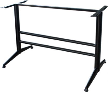 Picior, baza din aluminiu pentru blat dreptunghiular negru de la Basarom Com