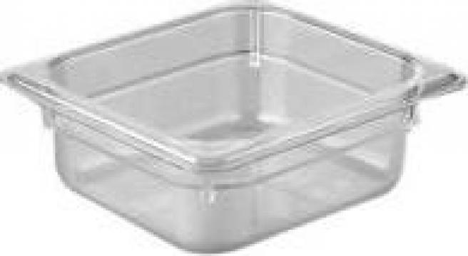 Tava gastronorm policarbonat 1/6-100, 1,5litri transparent de la Basarom Com