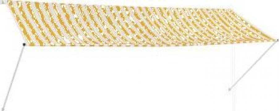 Copertina retractabila, galben si alb, 350 x 150 cm