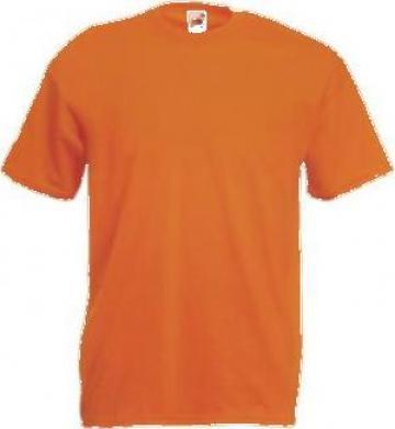 Tricou portocaliu bumbac de la Sc Atelier Blue Srl