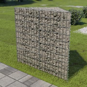 Jardiniera gabion, 75x75x100 cm, otel galvanizat