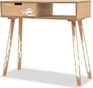 Masa consola, lemn masiv de pin 80x30x72 cm, maro de la Vidaxl
