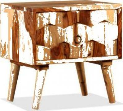 Noptiera cu 1 sertar, lemn masiv de sheesham de la Vidaxl