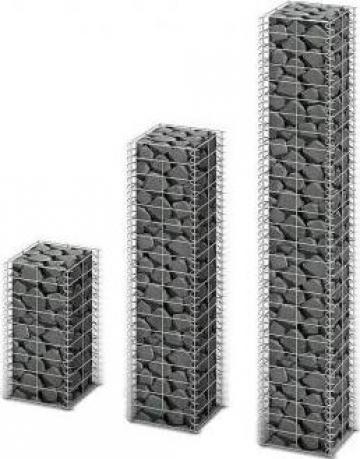 Set gabioane, 3 buc, sarma galvanizata