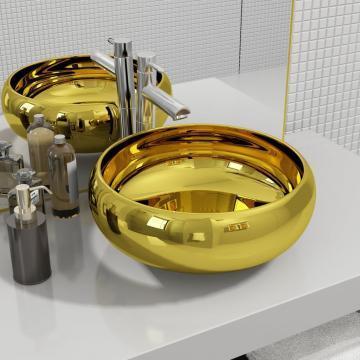 Chiuveta, auriu, 40 x 15 cm, ceramica de la Vidaxl