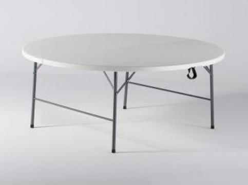 Masa restaurant, rotunda pliabila - 180cm de la Klar Design Srl