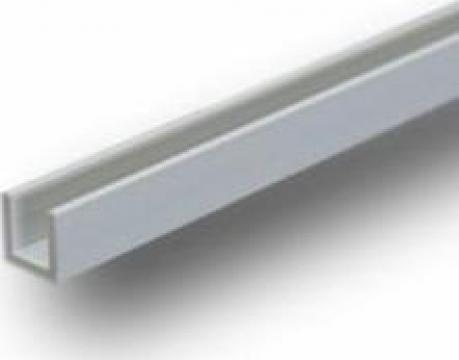 Profil U aluminiu 10x10x10x2 canal EN AW6060 T6 inox, alama