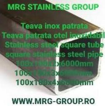 Teava inox patrata 100x100mm rectangulara, rotunda, aluminiu de la MRG Stainless Group Srl